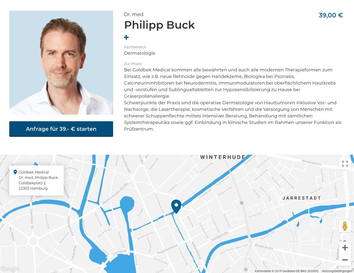 Online Haut Check mit Dr. Buck